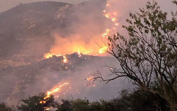 The Woodbury Fire near Superior has burned more than 30,000 acres and remains zero percent contained. (Photo/USFS)