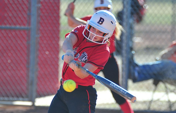 Bradshaw Mountain's Caitlynn Neal had two homers as the Bears take on Coconino in a rain makeup game Monday, March 25 in Prescott Valley.  Neal was choses as Player of the Year by The Daily Courier as part of its Spring 2019 All-Courier team selections. (Les Stukenberg/Courier, file)