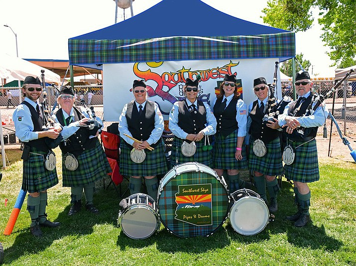 The Southwest Skye Pipes and Drums group will perform June 21 at Kaibab Lake. (Submitted photo)