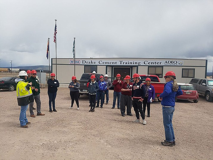 G.E.M. students on a field trip to the Drake Cement Mine in Paulden. (Courtesy)