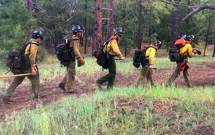 Prescott National Forest and Jerome firefighters were called to Mingus Mountain late Monday following a report of a wildfire at the Potato Patch campground. Jerome firefighters left the scene just before 7 p.m. while Forest Service personnel remained for final cleanup and to make sure the area was secure. VVN/Vyto Starinskas