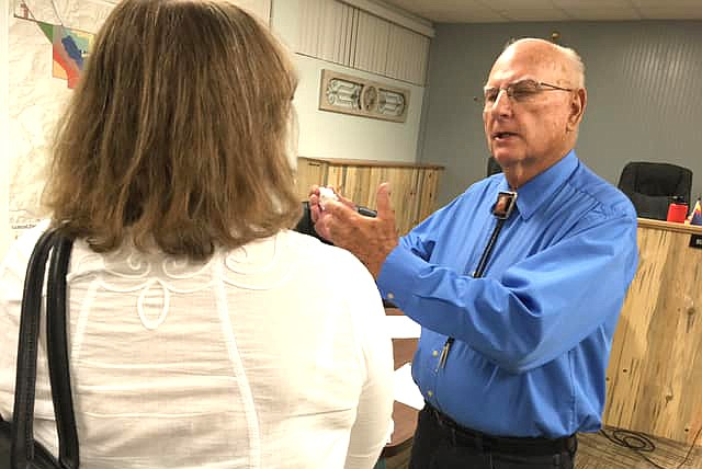 Camp Verde Mayor Charlie German talks about council's unanimous vote Wednesday to support an amended resolution that opposes Yavapai County's Verde Connect project.