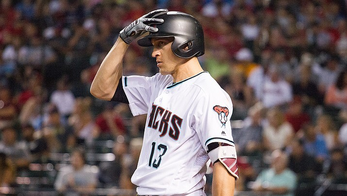 Arizona's Nick Ahmed hit a two-run homer a night after being struck on the left hand with a pitch and leaving in the fourth inning. However, it wasn't enough as the D-backs lost to the Giants 11-5. (File photo courtesy of Taylor Jackson/Arizona Diamondbacks)