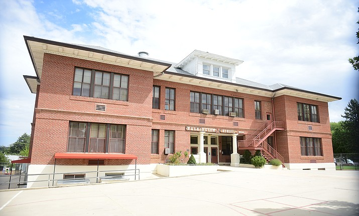The former Washington Elementary School is now PUSD's district offices. (Les Stukenberg/Courier file)