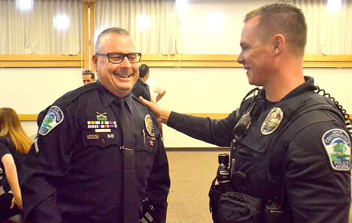 Christopher Dowell was named Cottonwood Police Officer of the Year in a ceremony Wednesday. VVN/Vyto Starinskas