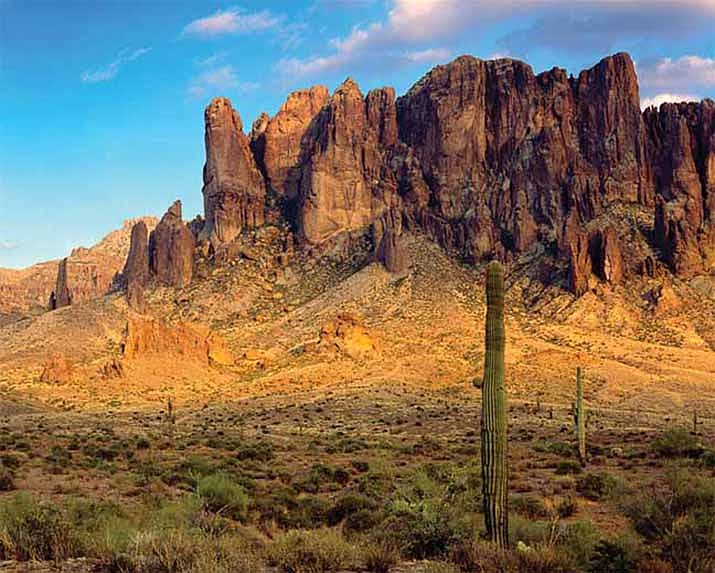The Superstition Mountains, generally believed to be the site of the legendary Lost Dutchman's Mine. (Public domain/Courtesy of the author)
