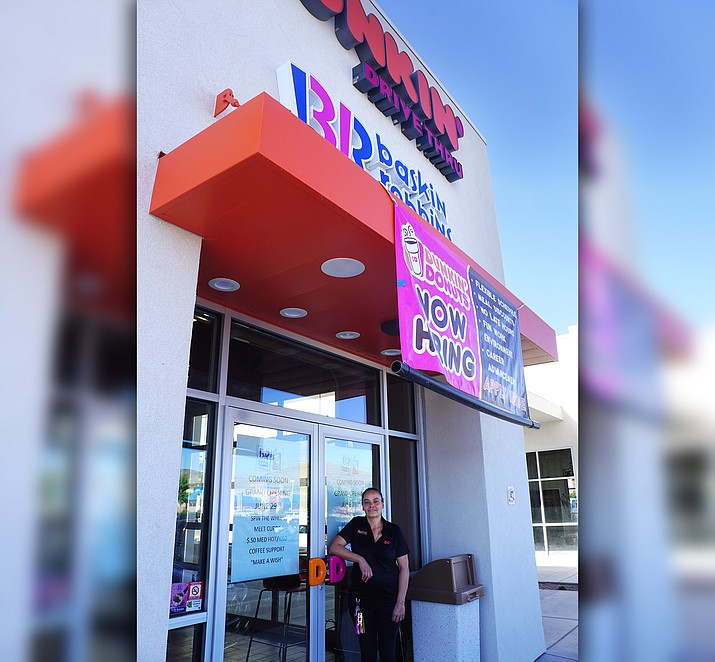 Manager Josie Herrera said training has been underway for a couple of weeks at the new Dunkin'/Baskin-Robbins in Prescott Valley. The restaurant, which features a drive-through and indoor seating, will conduct its grand opening on June 29 and 30. (Cindy Barks/Courier)