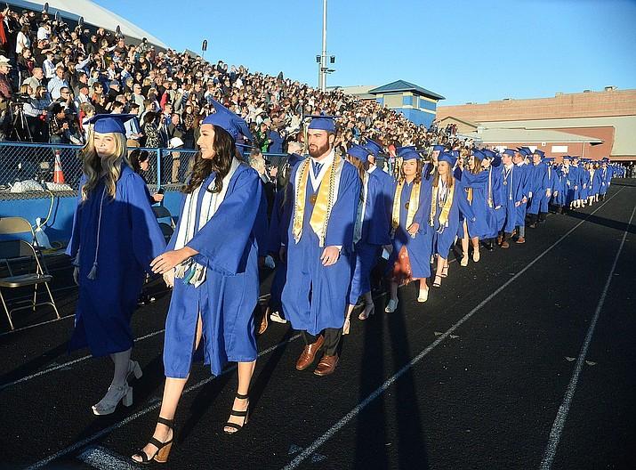 Prescott High School graduated 301 students in a commencement ceremony May 24, 2019, on Bill Shepard Field in Prescott. (Les Stukenberg/Courier, file)