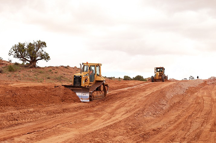 Paving projects are underway near Kaibeto which will last through April 2020. (Photo/Navajo Dept of Transportation)