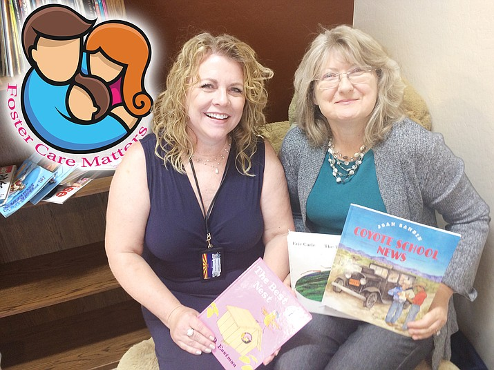 CASA volunteer Jodi McCabe on the right with head of the CASA program, Quinci Castelberry, the Yavapai County Superior Court dependency program manager. (Nanci Hutson/Courier)