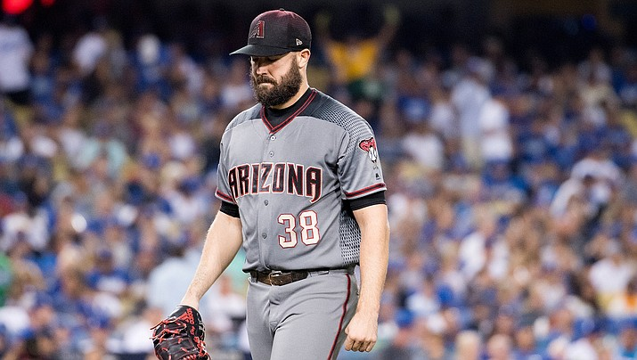 Robbie Ray allowed three runs on four hits with nine strikeouts in 6 1/3 innings Tuesday night as the D-backs fell 3-2 to the Dodgers. (File photo courtesy of Sarah Sachs/Arizona Diamondbacks)