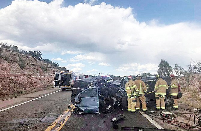 A head-on collision north of Paulden killed one person and sent one to the hospital in critical condition June 22. (YCSO/photo)