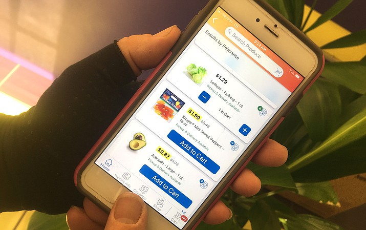 Fry's customers can use their cell phones to order and pay for groceries online. VVN/Vyto Starinskas