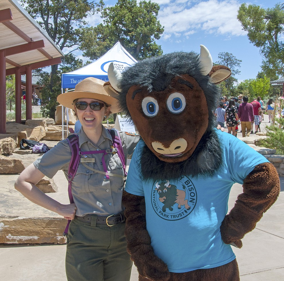 "June 22, 2019 | 10 AM - 4 PM Grand Canyon Visitor Center Plaza | Grand Canyon, AZ  ..Buddy Bison Meet and Greet 11 AM and 2 PM .Stop by and meet the National Park Service's official mascot. NPS/Bryan Maul...The Junior Ranger Program is a great way to explore national parks, get some cool swag, and maybe even a replica of a ranger hat! You'll also learn why national parks matter and how you can be a part of the team that helps keep parks healthy. We don't care what age you are–just come to ""explore, learn, and protect"" your national parks and become an official Grand Canyon Junior Ranger. This event is free and open to the public...Jr. Rangers can stop by to learn about Grand Canyon Wildlife at the park's touch table, make some split twig figurines,participate in the bark ranger program, and more. Participating organizations include Grand Canyon Conservancy, High Country Humane Animal Shelter, Delaware North, and Grand Canyon Vegetation Program. ."