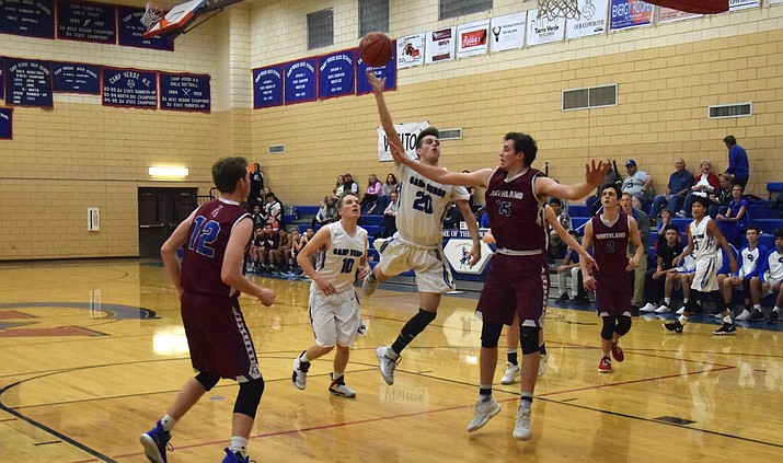 Camp Verde senior Jason Collier drives to basket last season. CV head coach Daniel Wall said Collier has done well this summer. VVN/James Kelley