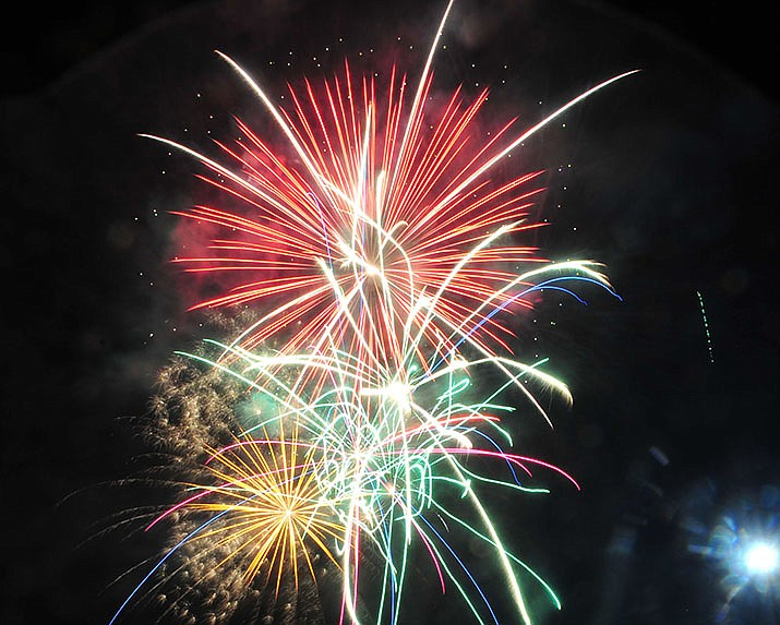 "Prescott Valley celebrated their 40th anniversary with a 40 minute fireworks display at Mountain Valley Park Saturday, August 25, 2018.  Prescott event coordinator Steve Gottlieb doesn't want to ever have to say, ""No Fireworks"" ever again. (Les Stukenberg/Courier, file)"