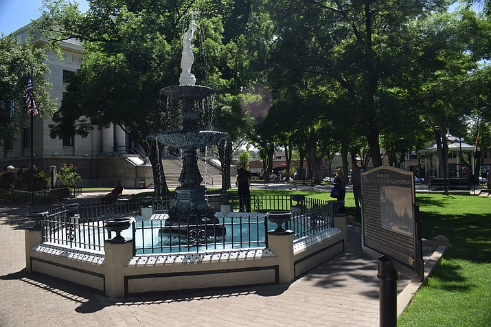 Check out the Lady Ermintrude plaque at the courthouse plaza in Prescott. (Courtesy)