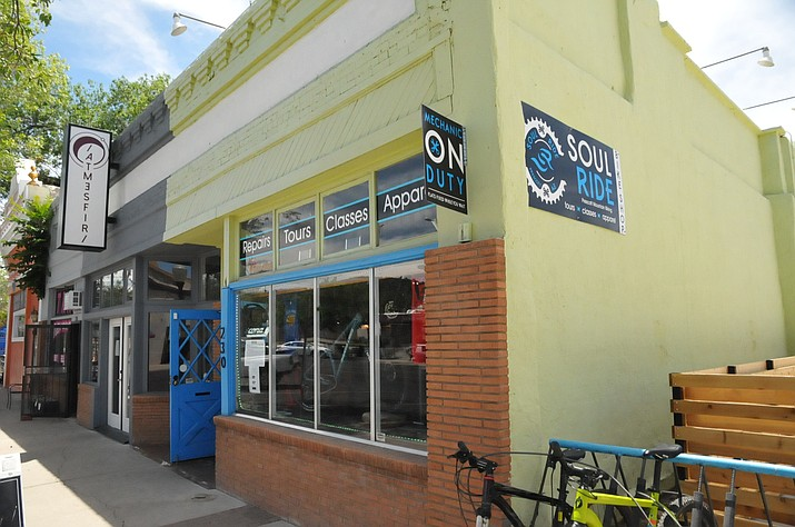 Cyclists and other guests visiting the store soon will be able to buy beer on tap in the back and sit outside on the patio of Soul Ride Bike Shop. (Doug Cook/Courier)