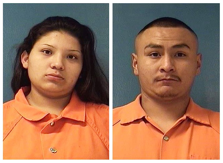Shayanne Nelson, left, and Tyrell Bitsilly. (McKinley County Adult Detention Center via AP, File)