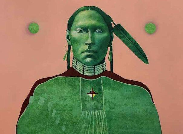 Crow Medicine Man, Keeper of the Sacred Law by Ben Wright - Goldenstein Gallery