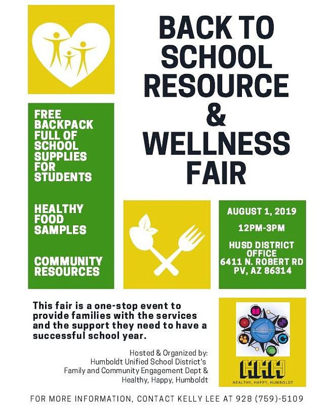 Prescott Valley in Brief: Back to School Resource and Wellness Fair