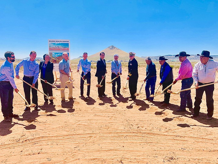 Navajo Nation President Jonathan Nez joined officials from the Winslow Indian Health Care Center, Inc., Dilkon Health Center Steering Committee, and Dilkon Chapter were on hand to  celebrate the start of construction. (Office of the President and Vice President)