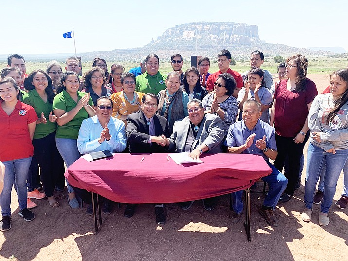 Navajo Nation President Jonathan Nez and Zuni Governor Val R. Panteah celebrate health and wellness on their nations June 21. (Office of the President)