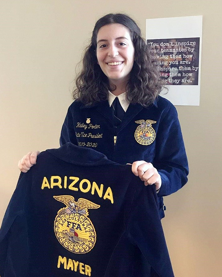 Hailey Porter, a graduate of Mayer High School, has been elected to the position of state vice president of the Arizona Association FFA. (Courtesy)