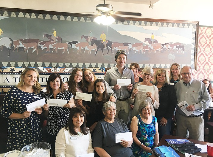 Local service organizations receive $9,700 in funds from the Greater Williams Community Fund June 13 at Anna's Canyon Cafe. (Submitted photo)