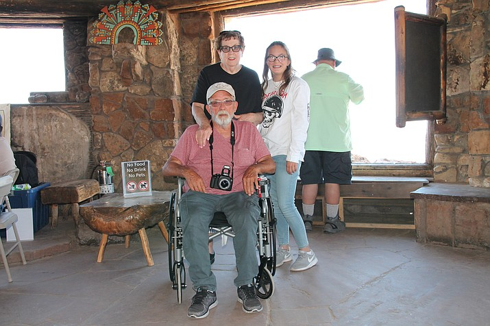 The Michelsons, visiting from Bakersfield, California, have been to the Grand Canyon several times and have had no accessibility issues in the park.  (Erin Ford/WGCN)