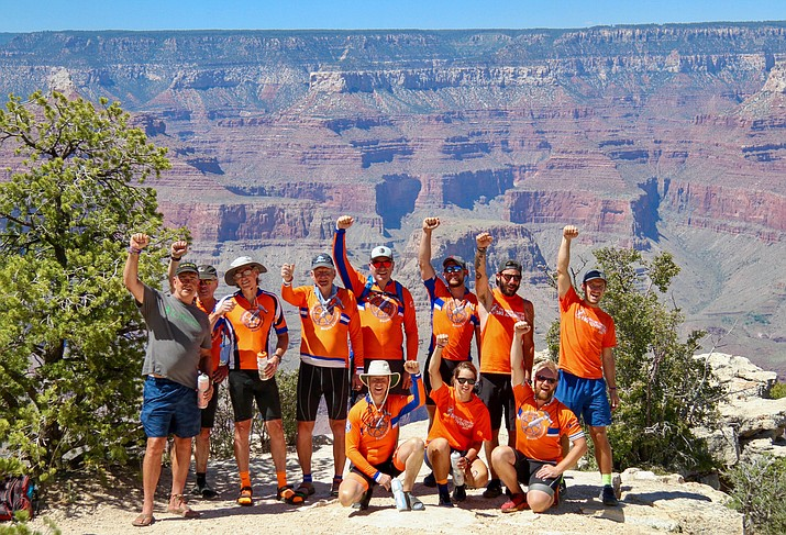 Riders with The Fuller Center for Housing passed through Williams June 28 on their way to the Grand Canyon. (Photo/The Fuller Center)