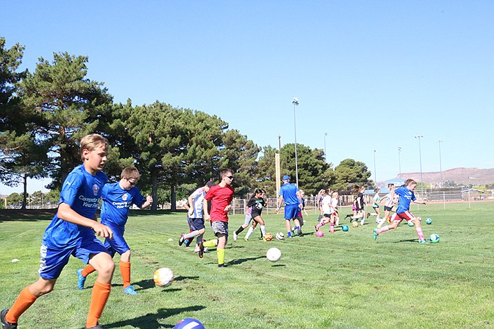 The UK International Soccer Camp will return to Centennial Park starting Monday, July 8. (Daily Miner file photo)