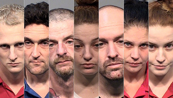 From left, Alan Arens, Dustin Donnelly Girard, Ryan Hogg, Samantha Jean Howard, Alexander Riordan, Ashley Sykes, and Nicole Walden. (YCSO/Courtesy photos)