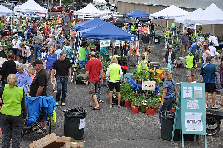 The 2018 Monsoon Madness Plant and Yard Sale where plants and gardening related items are sold to raise funds for community education efforts. The 2019 Monsoon Madness Plant and Yard Sale will be Saturday, July 13, at the Prescott Rodeo Grounds. It begins at 7:30 a.m. and ends at 12:30 p.m. (University of Arizona Master Gardener, Yavapai County)