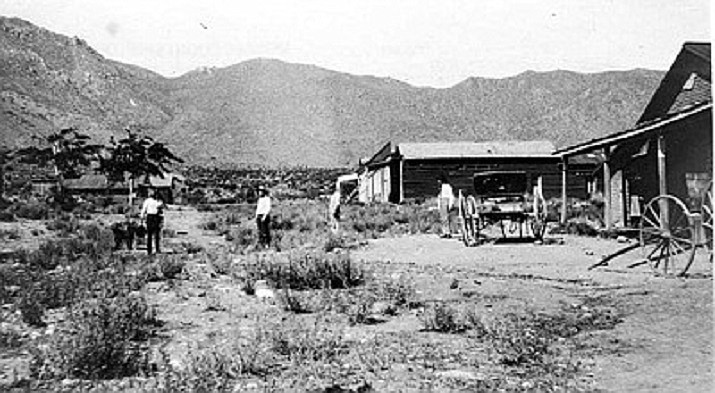 Street in Mineral Park in the 1870's. (Mohave Museum of History and Arts photo)