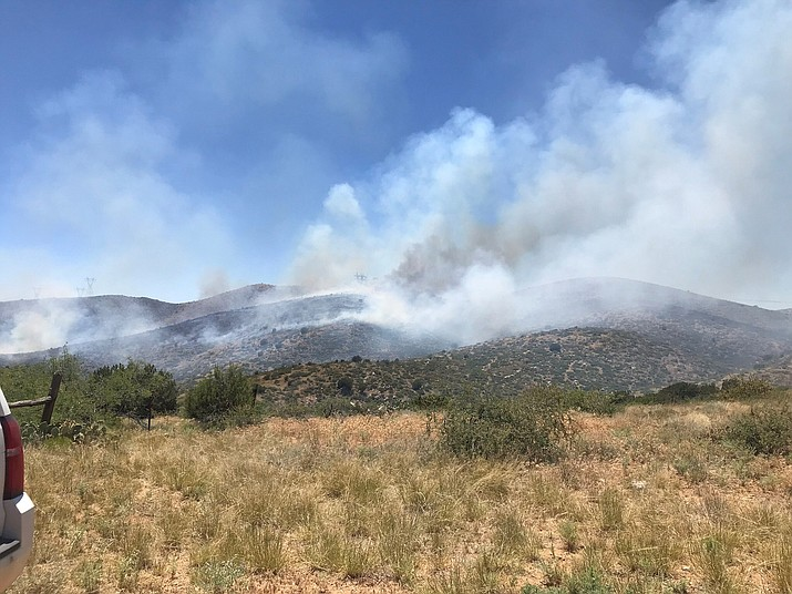 Forest Service Fire crews are battling a blaze east of Dewey, Thursday, July 4, 2019. (YCSO/Courtesy)