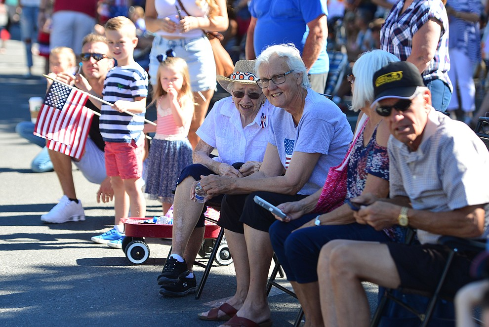 Crowds lined the street during the 78th annual Kiwanis Kiddie Parade along Cortez Street in downtown Prescott Friday July 5, 2019.  (Les Stukenberg/Courier)