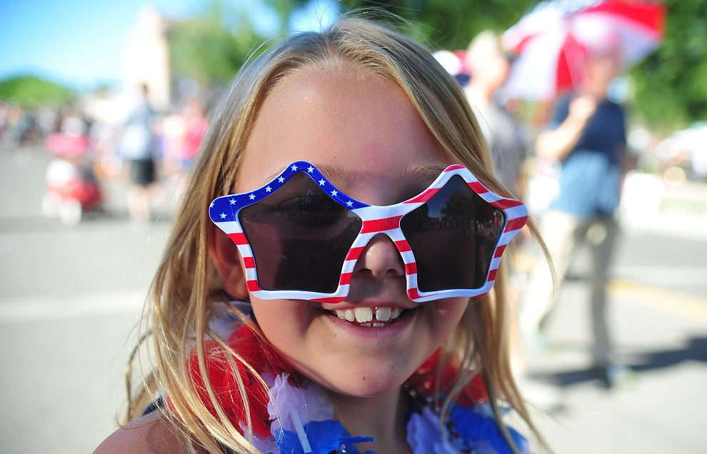 Ember Barnum during the 78th annual Kiwanis Kiddie Parade along Cortez Street in downtown Prescott Friday July 5, 2019.  (Les Stukenberg/Courier)