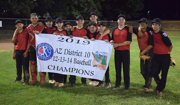 Verde Valley Little League won the juniors District 10 baseball all-stars tournament last week, going 3-0. VVN/James Kelley