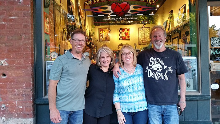 The Newman Gallery, which spent the past 18 years in the mall at Hotel St. Michael on Whiskey Row in Prescott, has been sold. Newman Gallery owners Dave and Donna Newman, right, have turned over their space to Jim DeMonte, a master jeweler, and Tracy DeMonte, a diamond expert. The couple has a combined 38 years of experience in the jewelry business. The new store is Goldmine Jewelers. (Dave Newman/Courtesy)