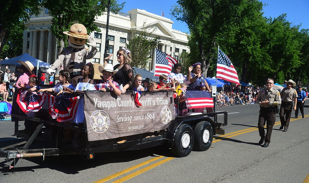 Yavapai County Sheriff's Office during the Prescott Frontier Days Rodeo Parade through the streets of downtown Prescott Saturday July 6, 2019.  (Les Stukenberg/Courier)