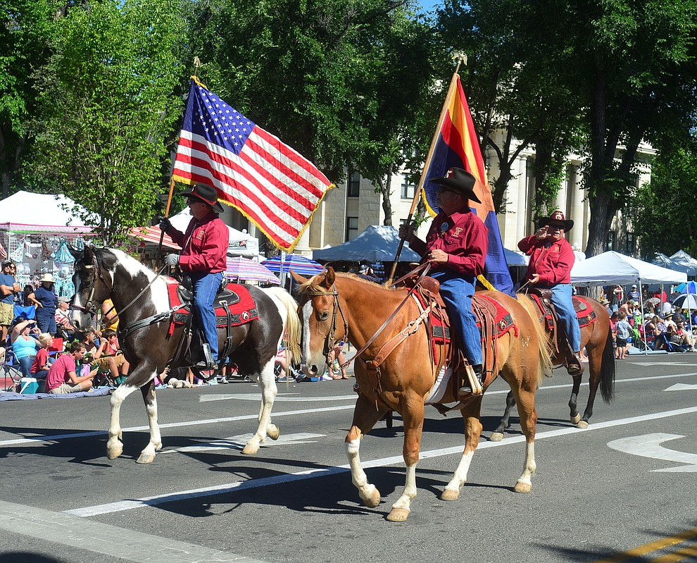 Prescott Frontier Days Rodeo Parade through the streets of downtown Prescott Saturday July 6, 2019.  (Les Stukenberg/Courier)