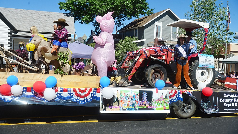 Yavapai County Fair during the Prescott Frontier Days Rodeo Parade through the streets of downtown Prescott Saturday July 6, 2019.  (Les Stukenberg/Courier)