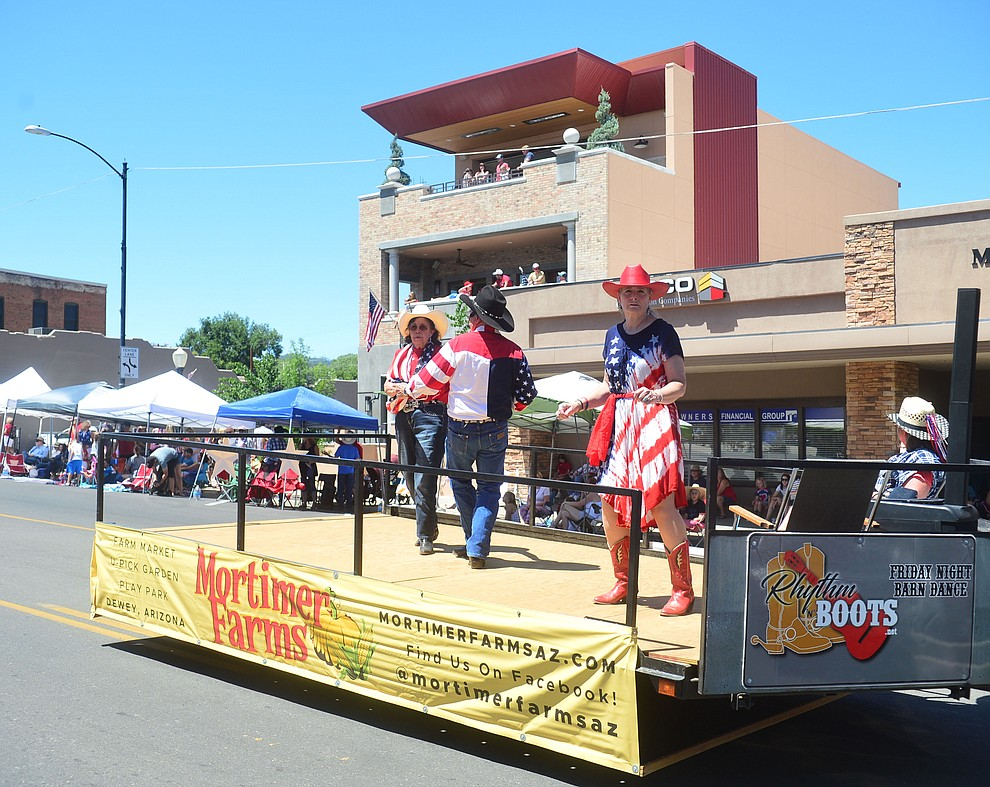 Mortimer Farms danced away during the Prescott Frontier Days Rodeo Parade through the streets of downtown Prescott Saturday July 6, 2019.  (Les Stukenberg/Courier)