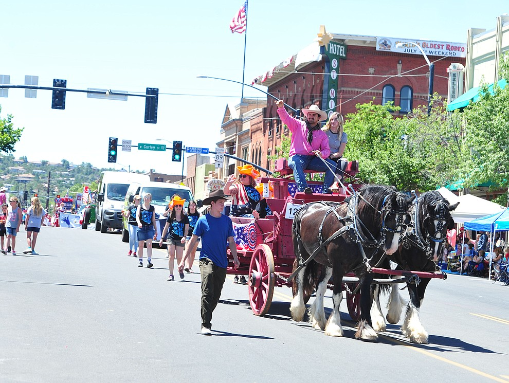 OneAZ Credit Union during the Prescott Frontier Days Rodeo Parade through the streets of downtown Prescott Saturday July 6, 2019.  (Les Stukenberg/Courier)