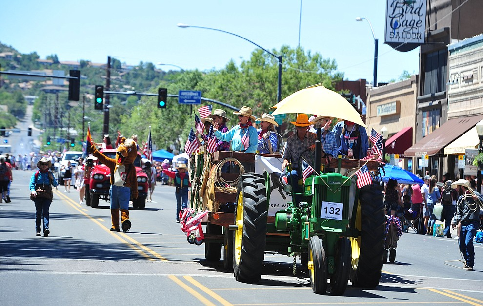 Horse with Heart during the Prescott Frontier Days Rodeo Parade through the streets of downtown Prescott Saturday July 6, 2019.  (Les Stukenberg/Courier)