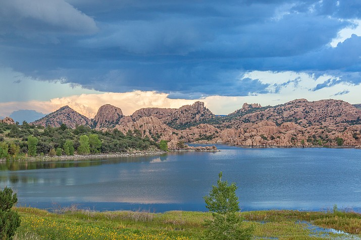 In this file photo, monsoon storm clouds form over Watson Lake in Prescott in June, 2018. (Courier file photo)