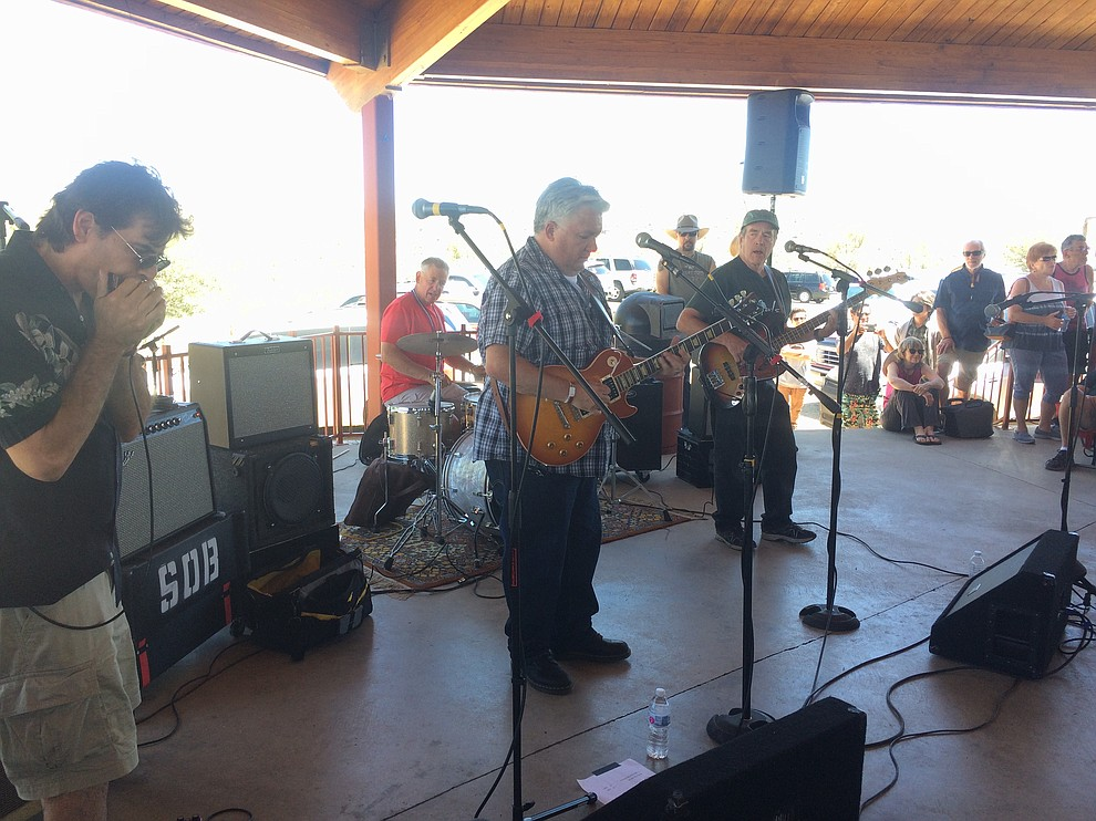 Big Daddy D and the Dynamites perform at the second annual Watson Lake Blues Festival Saturday, July 6. (Jason Wheeler/Courier)