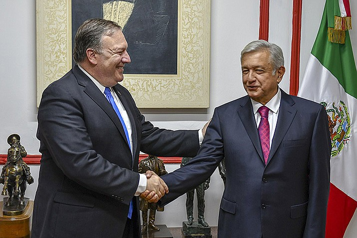U.S. Secretary of State Mike Pompeo meets with Mexican President-elect Andres Manuel Lopez Obrador in Mexico City, Mexico on July 13, 2018. (State Department photo/Public Domain)