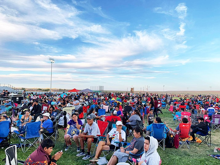 A crowd gathers for Fourth of July festivities including a firework show in Tuba City. (Office of the President and Vice President)